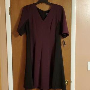 Wine & Black 18/20 Dress by Gabby Skye NEW